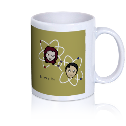 LoveCoups.com | Stronger than a Covalent Bond - Personalized 11 oz. Premium Mug - $16.95